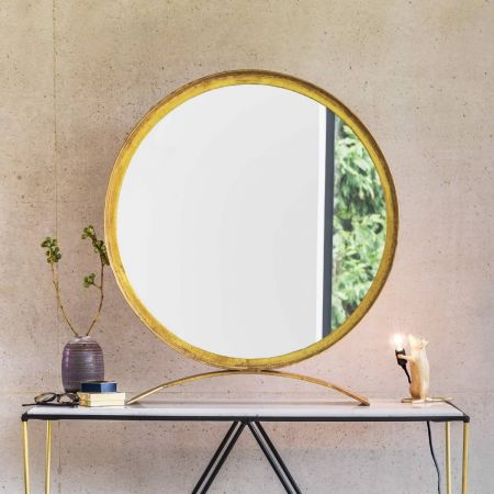 Zandar Large Gold Table Mirror