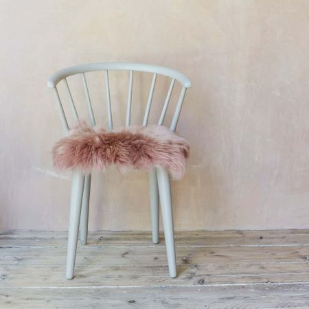 Dark Rose Sheepskin Seat Pad