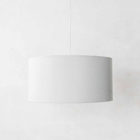 Tall Grey and Gold Pendant Shade