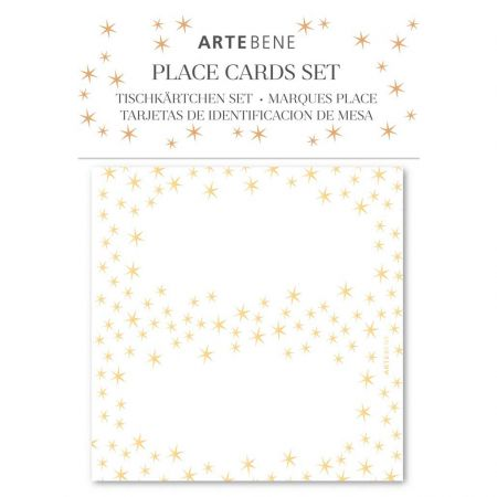 Pack of Ten Gold Star Place Cards