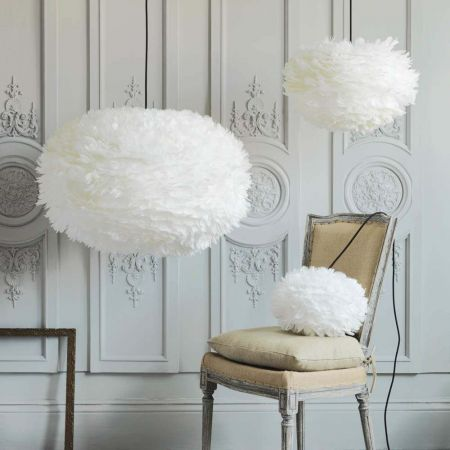 Aurora White Feather Pendant Shades - Thumbnail