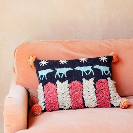 Matari Tribal Cow Cushion