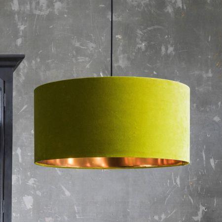 Pistachio Green Velvet Pendant Shade