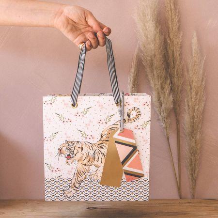 Tiger Print Gift Bag
