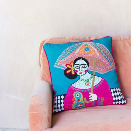 Mexicana Umbrella Cushion