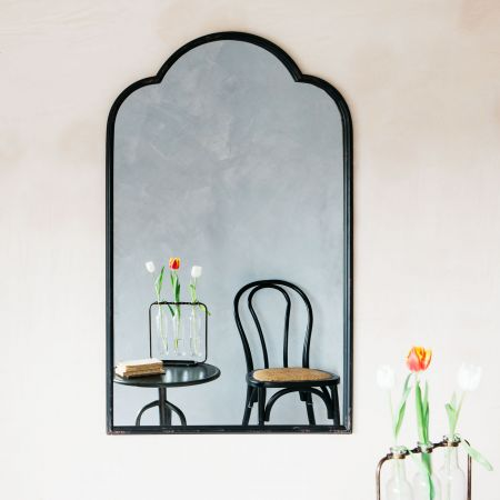 Scallop Top Antiqued Mirror
