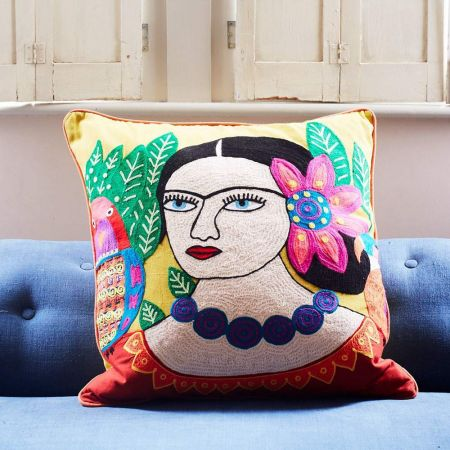 Mexicana Large Yellow Cushion