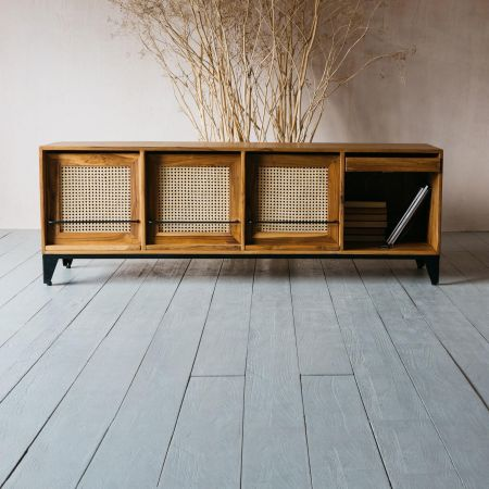 Malay Four Drawer Media Cabinet