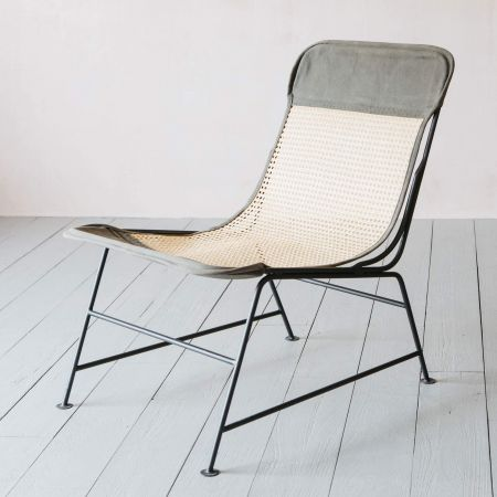 Iron and Cane Safari Chair