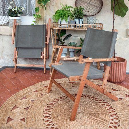Green Canvas Folding Directors Chair