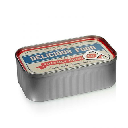 Red Tin Food Container