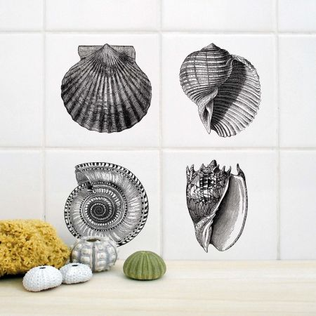 Shells Tile Stickers
