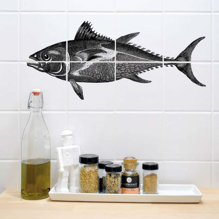 Tuna Fish Tile Stickers