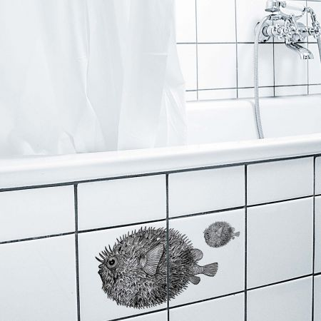 Puffer Fish Tile Stickers