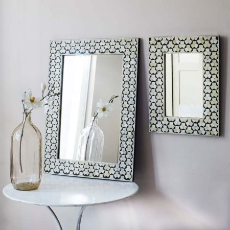 Beaumont Bone Inlay Mirrors - Thumbnail