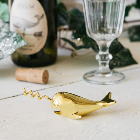 Gold Whale Bottle Opener