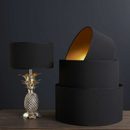 Black And Gold Lamp Shades