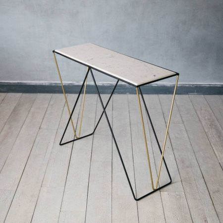 Detroit Marble Console Table