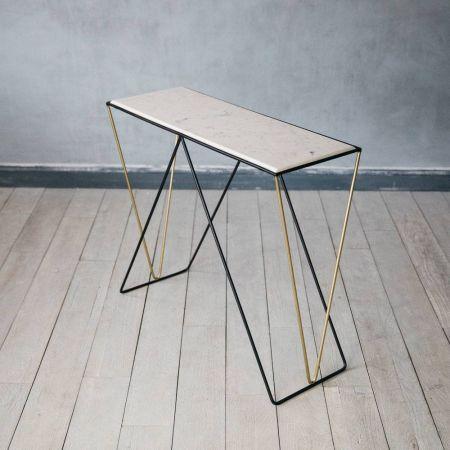 Detroit Marble Console Table