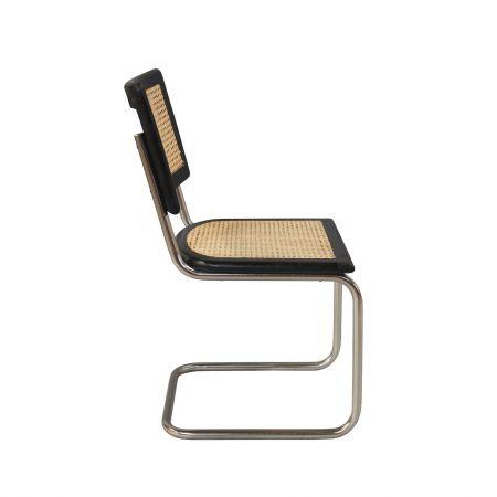 Black Mango Wood and Chrome Chair
