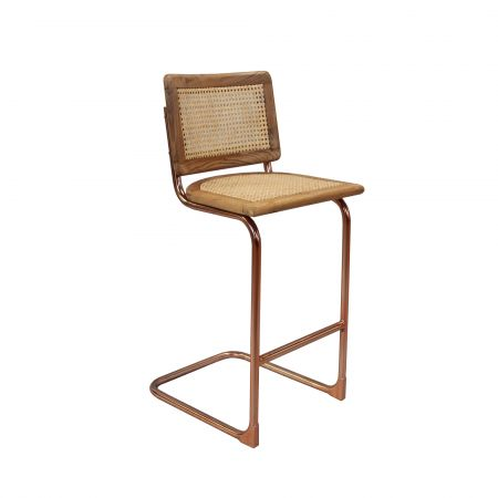 Recycled Teak and Copper Bar Stool