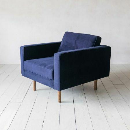 Oscar Royal Blue Velvet Armchair