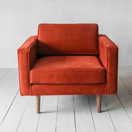 Oscar Burnt Orange Velvet Armchair