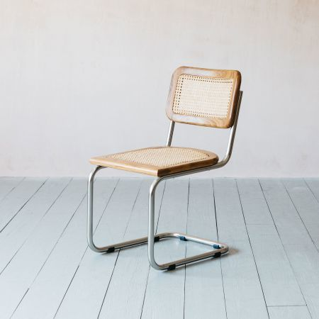 Recycled Teak and Chrome Chair