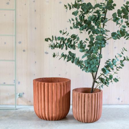 Set of Two Fibreclay Planters