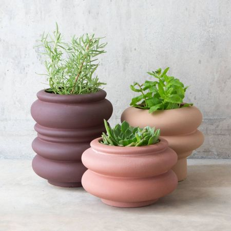 Curved Earthenware Pots