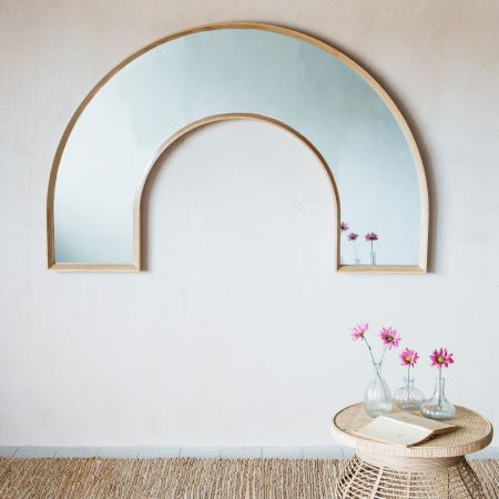 Alva Rainbow Oak Mirror