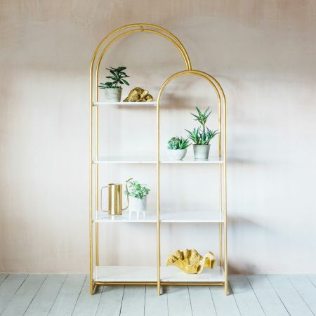 Anwen Arch Marble Shelving Unit