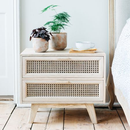 Esben Two Drawer Bedside Table