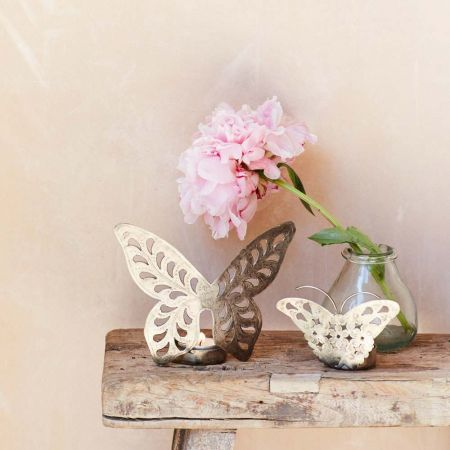 Iron Butterfly Tea Light Holders