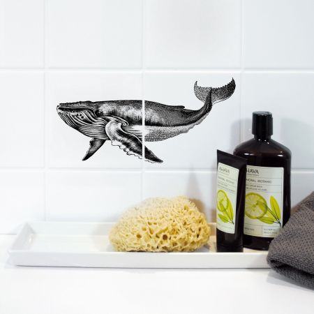 Whale Tile Sticker
