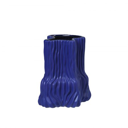Electric Blue Short Trunk Vase