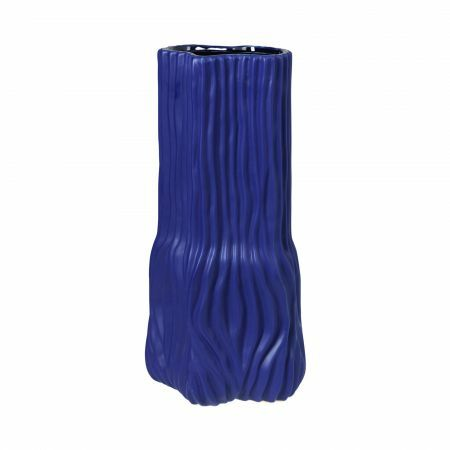 Electric Blue Tall Trunk Vase