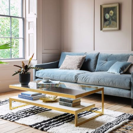 Estere Gold and Marble Coffee Table