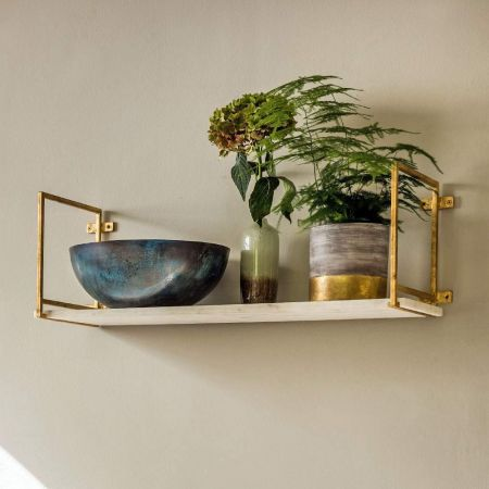 Tala Gold Marble Shelf