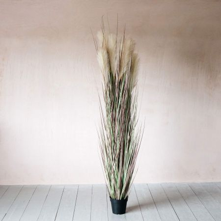 Large Faux Onion Grass and Wheat Spray