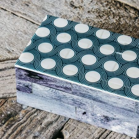 Spotty Grey Bone Box