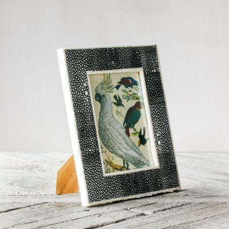 Black Shagreen Bone Frame
