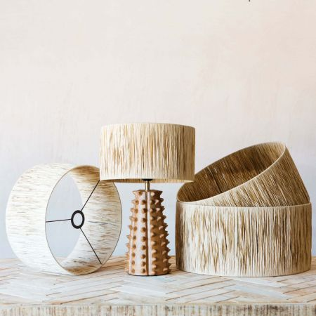 Natural Raffia Lamp Shades