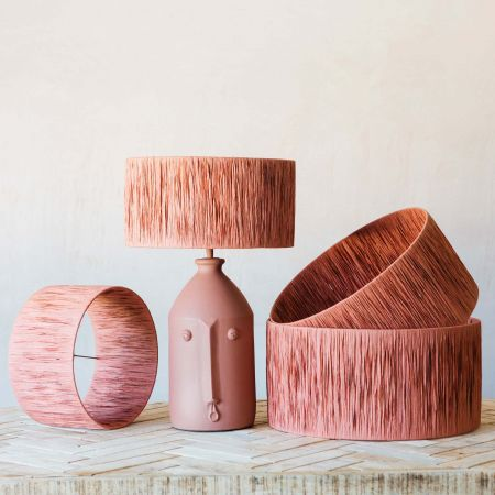 Brick Raffia Lamp Shades