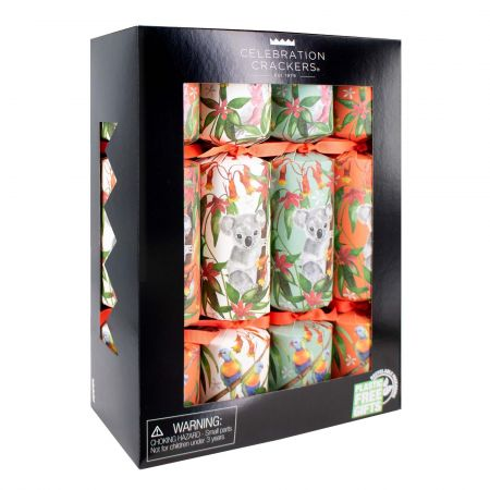 Set of Eight Tropical Eco Crackers