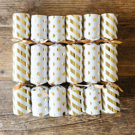 Set of Six Gold Fill Your Own Crackers