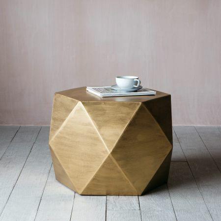 Gold Hexagonal Coffee Table
