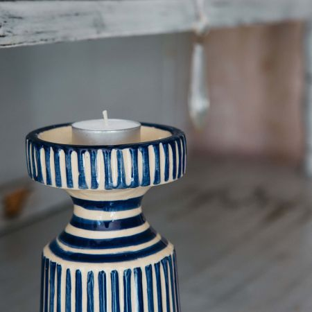 Striped Candle Holder