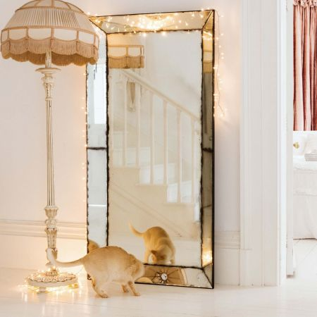 Extra Large Antiqued Venetian Mirror