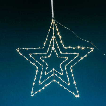Geometric Hanging Star Light